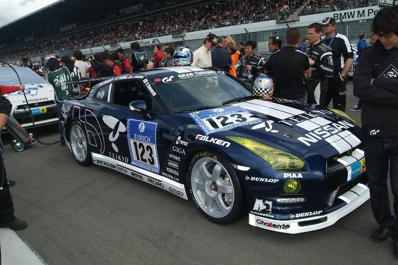 Nissan GT-R at starting lineup